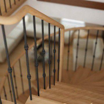 Elegantiški laiptai ant metalinės konstrukcijos MT 25