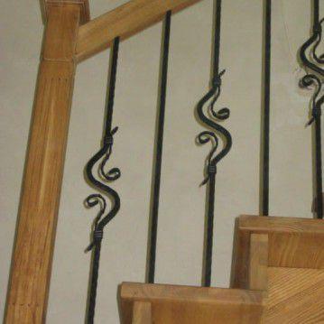Mediniai laiptai su posūkiu ME 34
